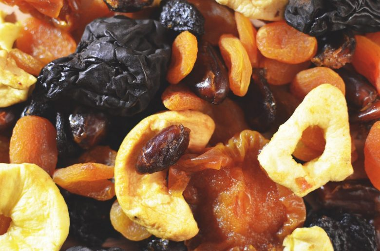 A bowl of dried fruits
