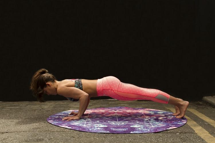A girl doing plank
