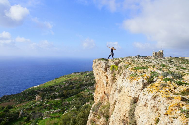 Running in Malta, Dingli Cliffs