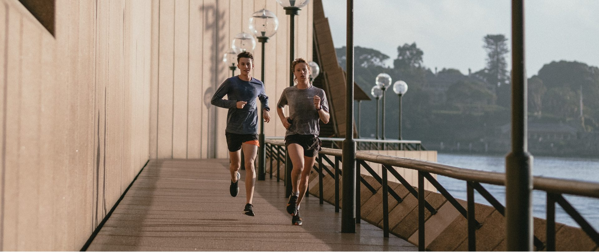 Man And Girl Running