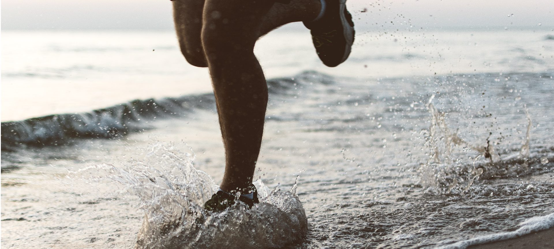 Running On The Beach Close Up